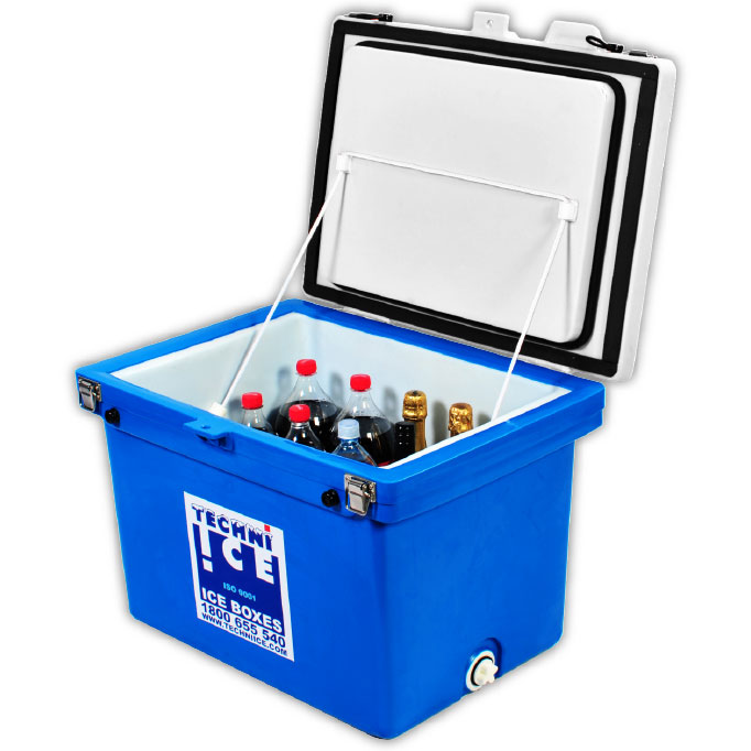 Techniice Classic Ice box  - 60L - White Blue ***BEAT THE PRICE RISE! Order by now for dispatch on 8th MAR*